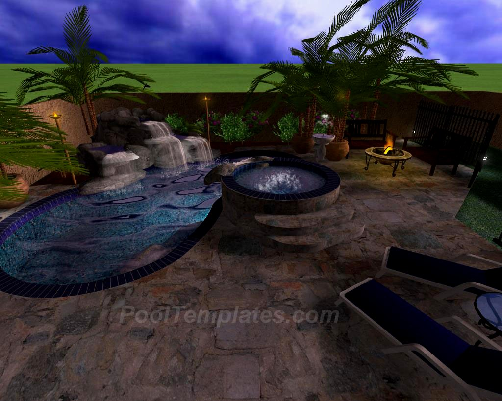 Virtual 3d by pooltemplates for Virtual swimming pool design