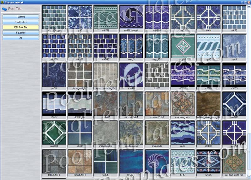 Pin pool tile pictures on pinterest for Pool tile pictures