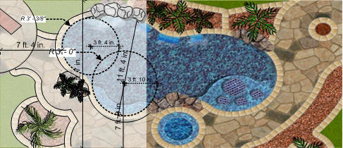 Pool templates for Pool design templates