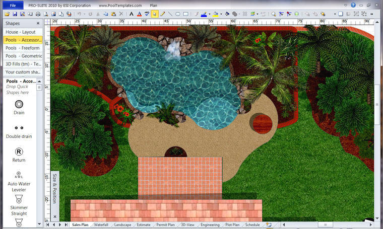Pro suite pool design estimating software for How to design garden layout