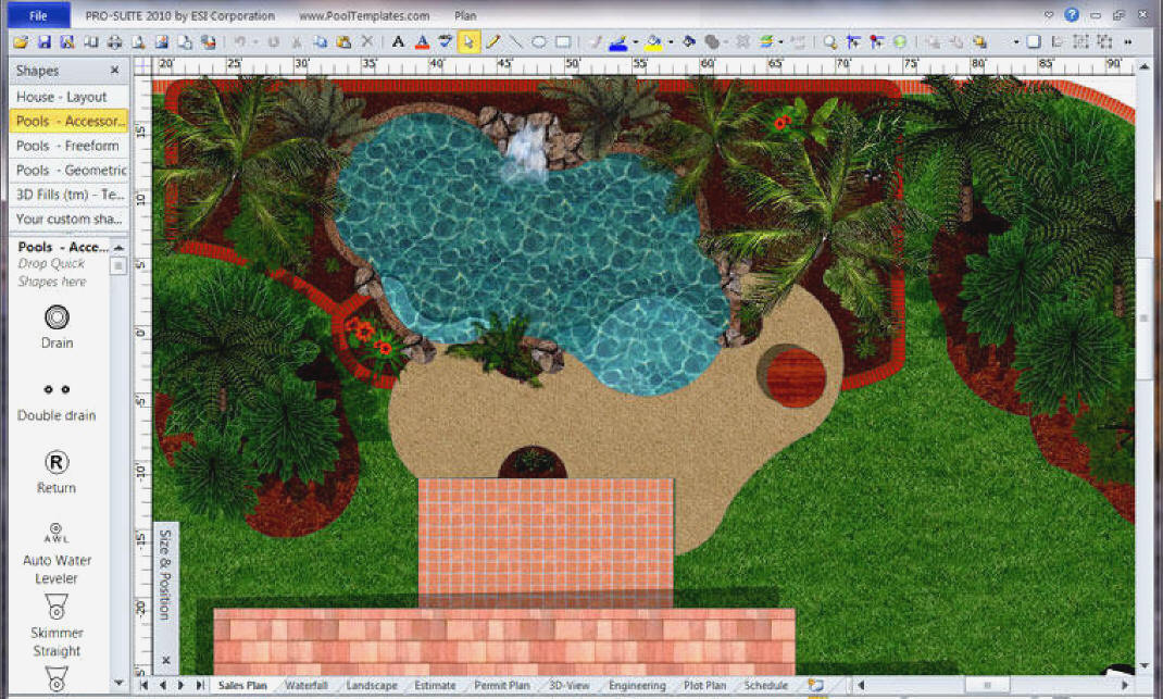Pool templates visio 2003 for Visio garden template